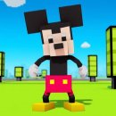 Topolino e Paperino a cubetti in Disney Crossy Road
