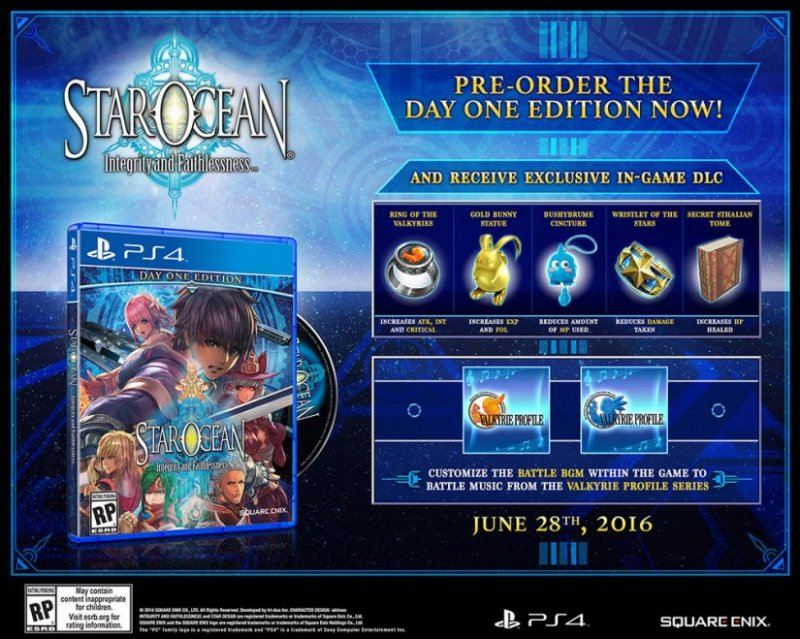 Star Ocean: Integrity and Faithlessness ha una data e un'edizione speciale in nord America