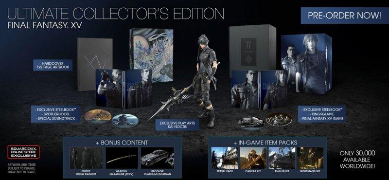 Svelati i contenuti delle varie edizioni di Final Fantasy XV