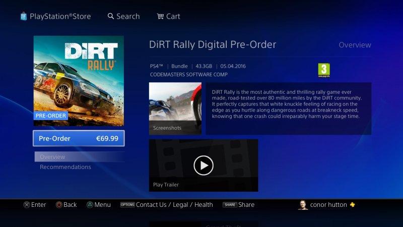 Svelate le dimensioni della versione PlayStation 4 di DiRT Rally