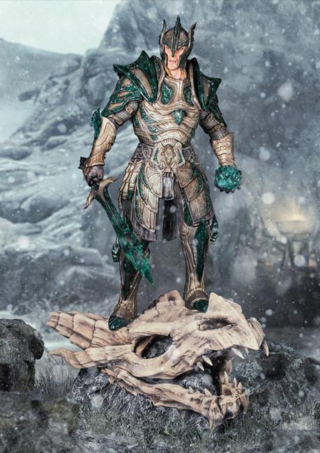 Gaming Heads ha realizzato una statua dedicata alla corazza di vetro di Skyrim