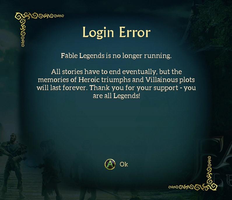 Chiusi i server di Fable Legends