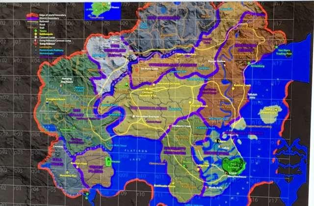 Svelata la mappa di Red Dead Redemption 2?