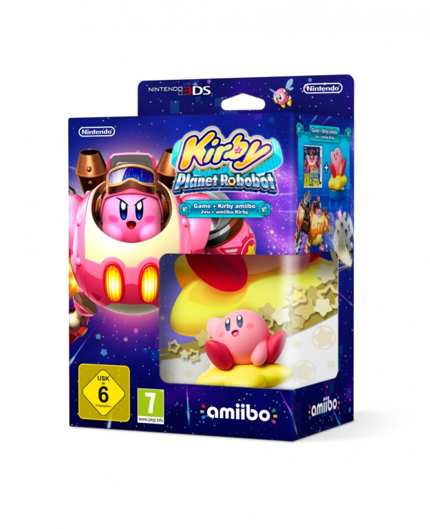 Un'edizione in bundle con amiibo per Kirby: Planet Robobot