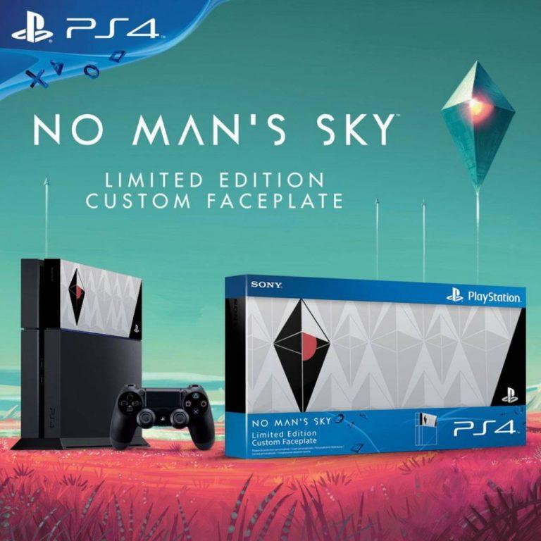 Un faceplate a tema No Man's Sky per PlayStation 4