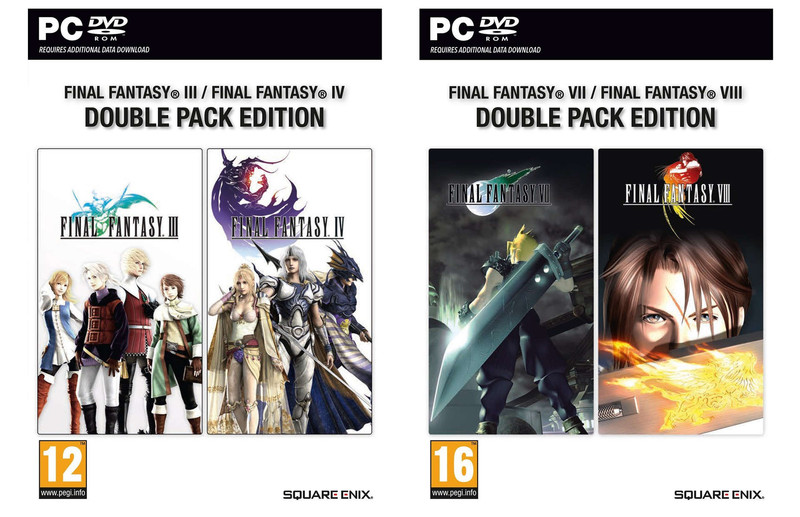 Emergono due bundle di Final Fantasy in versione retail per PC