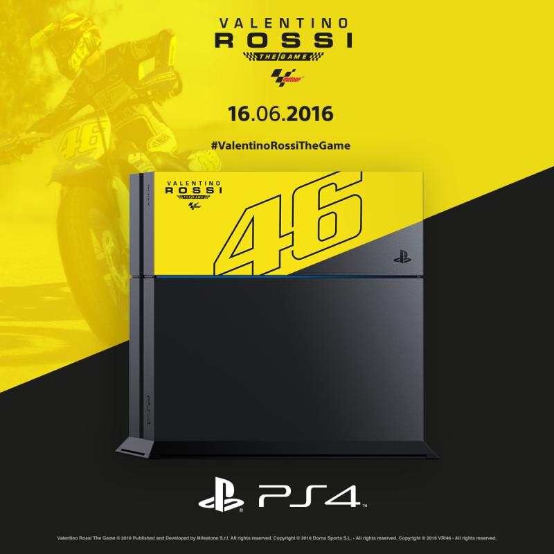 Sony ha annunciato la versione limited PlayStation 4 di Valentino Rossi: The Game