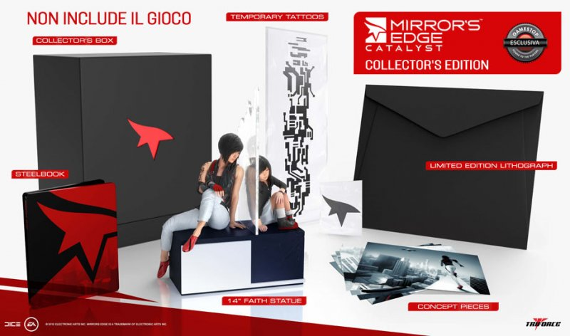 La preziosa Collector's Edition di Mirror's Edge Catalyst non contiene il gioco