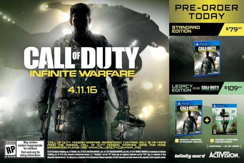 Ancora rumor su Call of Duty: Infinite Warfare - Include il Remaster di Call of Duty: Modern Warfare con 10 mappe per il multiplayer