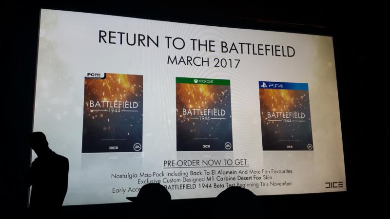 Un'immagine mostra un Battlefield 1944 in uscita a marzo 2017, ma è un fake