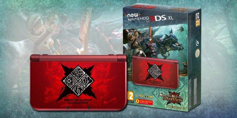 Ecco l'edizione speciale di New Nintendo 3DS XL griffata Monster Hunter Generations