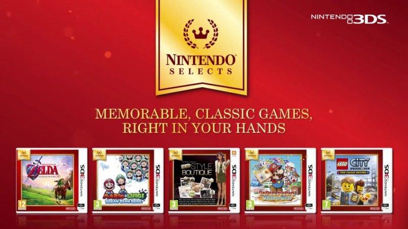 Altri 5 titoli inseriti nella serie budget Nintendo Selects in Europa, c'è anche The Legend of Zelda: Ocarina of Time 3D