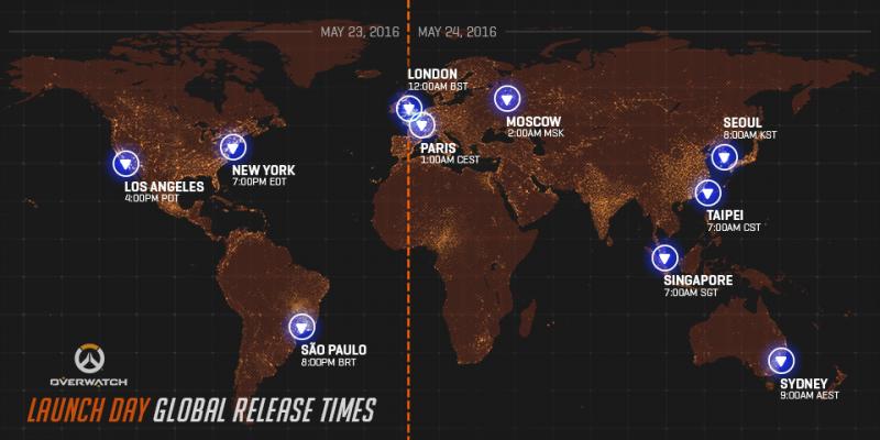 Blizzard ha svelato gli orari di lancio di Overwatch in tutto il mondo