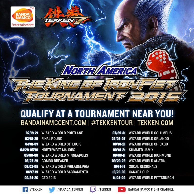 Bandai Namco annuncia la versione americana del torneo ufficiale Tekken 7: The King of the Iron Fist Tournament 2016