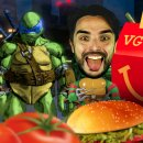Matteo e il cowabunga nel pranzo con Teenage Mutant Ninja Turtles: Mutanti a Manhattan