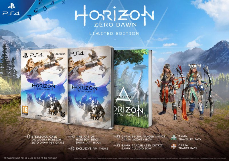Rivelate le limited di Horizon: Zero Dawn