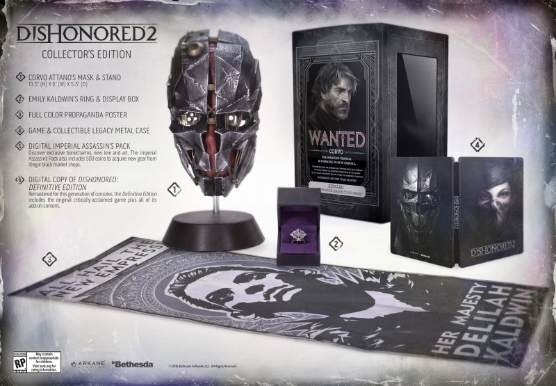 Annunciata la Collector's Edition di Dishonored 2