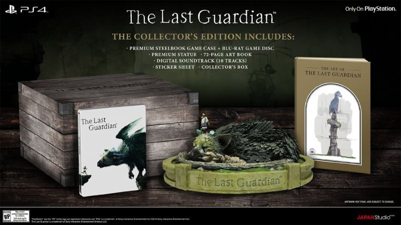 Un retailer americano rivela la Collector's Edition di The Last Guardian