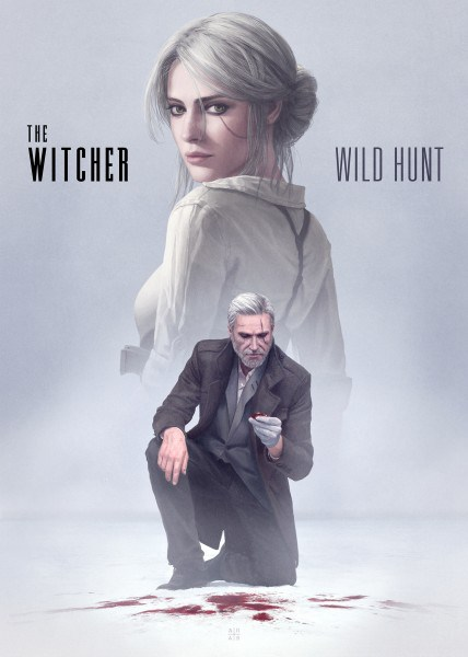 Qualcuno ha immaginato The Witcher 3: Wild Hunt in salsa noir
