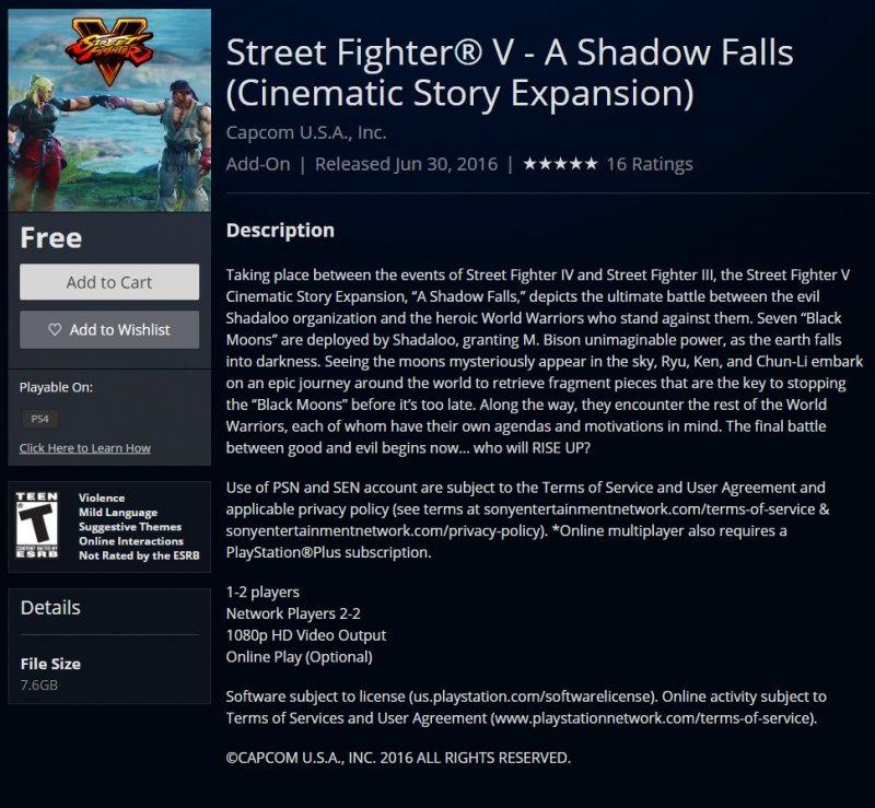Disponibile lo Story Mode di Street Fighter V