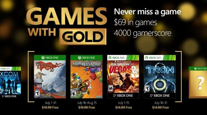 Games with Gold - Luglio 2016