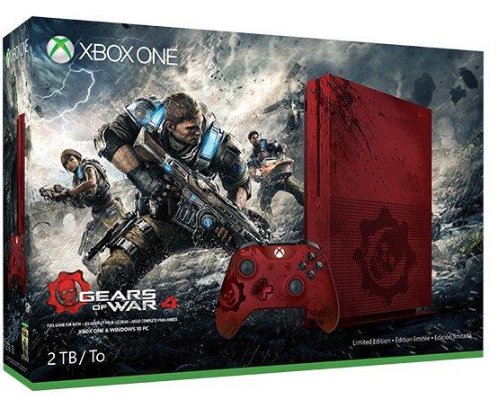 Ecco l'Xbox One S in edizione speciale rosso sangue per il bundle con Gears of War 4