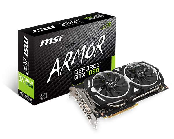 MSI presenta le nuove schede GeForce GTX 1060 Custom