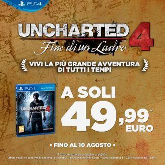 Nuove offerte ufficiali su Uncharted 4: Fine di un Ladro e PlayStation 4