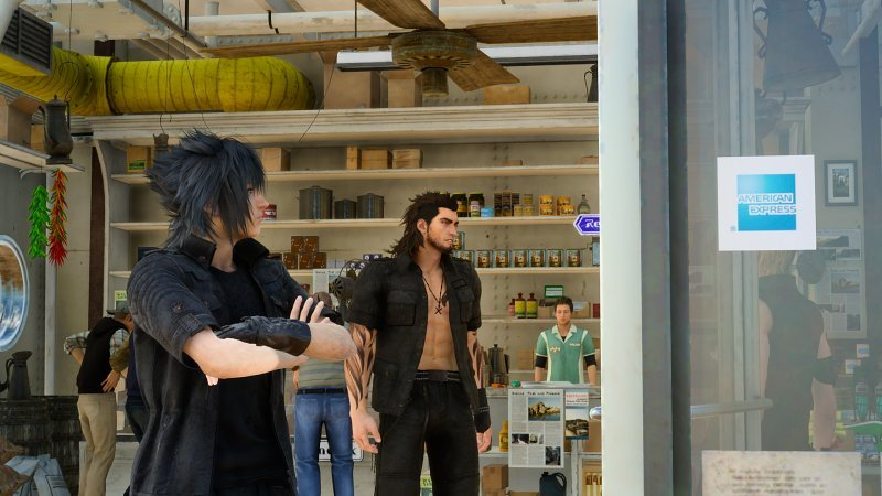 Il product placement in Final Fantasy XV genera dei risultati alquanto bizzarri: il caso di Noctis e American Express