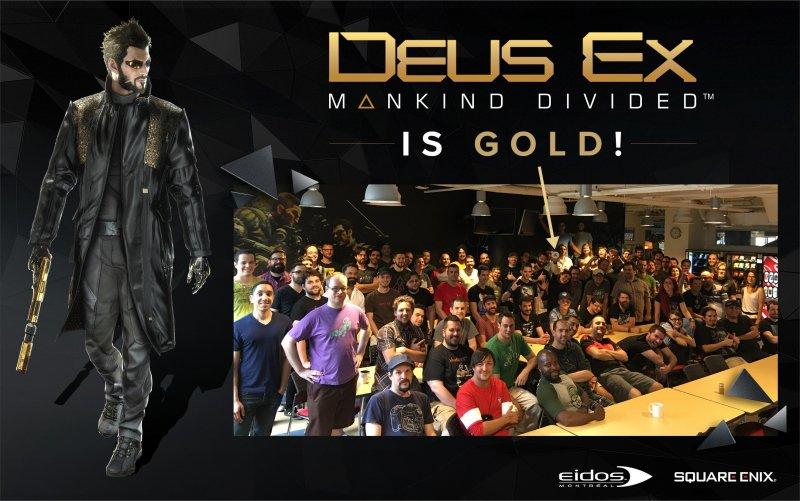 Deus Ex: Mankind Divided è in gold