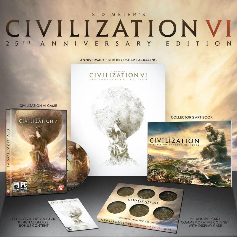 Annunciata la Sid Meier's Civilization VI 25th Anniversary Edition