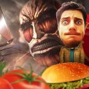I giganti a pranzo con Vincenzo Lettera in A.O.T. Wings of Freedom per PlayStation 4