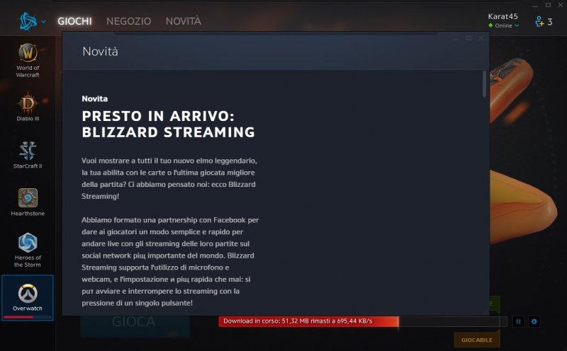 Il nuovo aggiornamento di Battle.net consente di fare lo streaming su Facebook di titoli come Overwatch o Heroes of the Storm