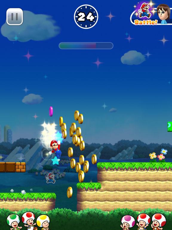 Mario corre su iOS