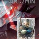 La Polonia ha dedicato un francobollo a Geralt di Rivia, il protagonista della serie The Witcher
