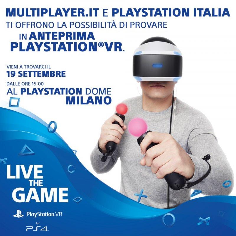 Ancora qualche posto disponibile per provare PlayStation VR con Multiplayer.it e Sony