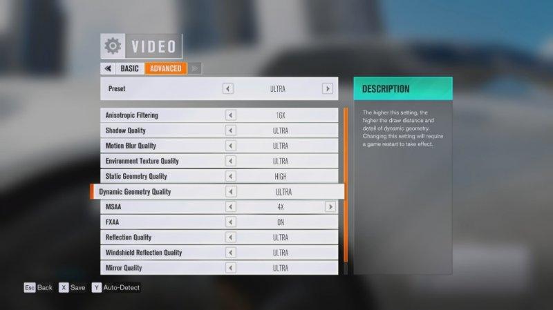 Svelati i settaggi grafici per la versione PC di Forza Horizon 3
