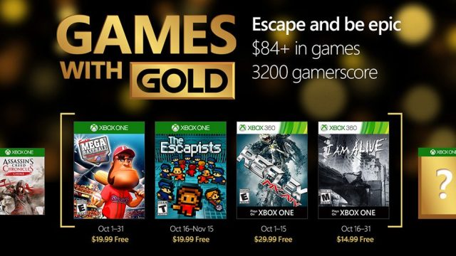 Games with Gold - Ottobre 2016