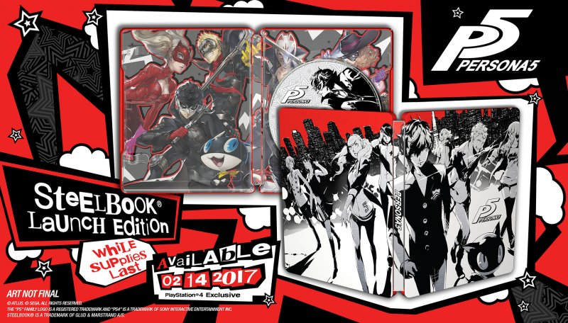 Rivelata la cover dello steelbook per l'edizione occidentale di Persona 5