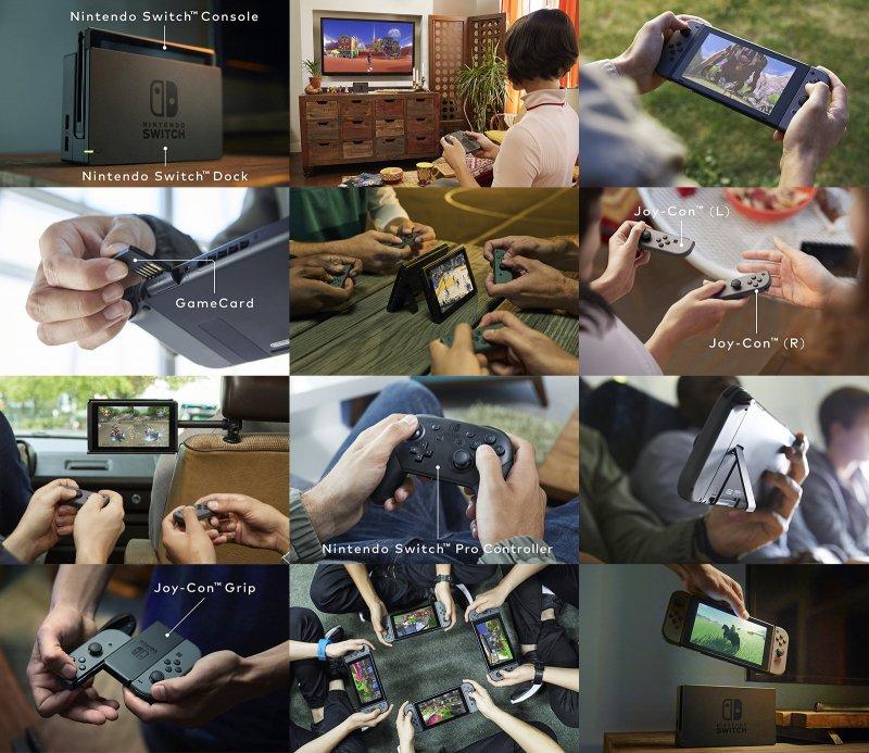 Nintendo Switch si mostra più da vicino in qualche immagine esplicativa