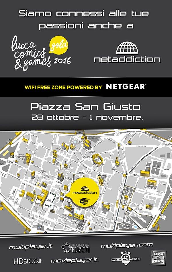Netaddiction sarà presente a Lucca Comics & Games 2016 con un padiglione monografico