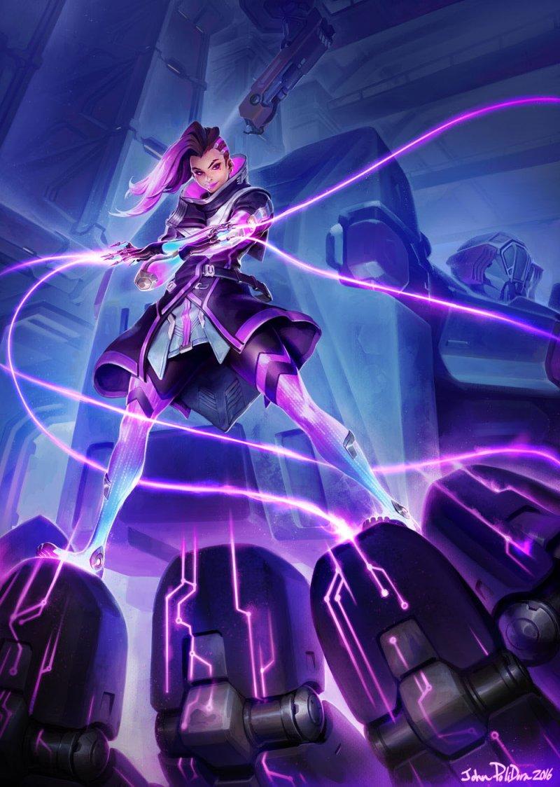 Un artwork di Sombra compare nel merchandising ufficiale di Overwatch