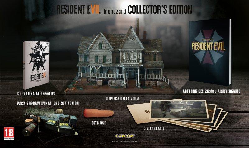 Confermata la complessa edizione da collezionisti di Resident Evil 7 Biohazard anche in Europa