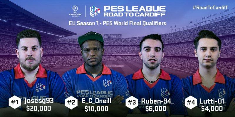 Pro Evolution Soccer 2017, ecco i vincitori della Prima Finale Europea del torneo PES League Road to Cardiff