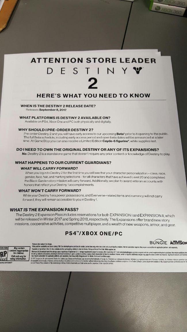 Destiny 2: un documento rivela la finestra di lancio dei primi due DLC?
