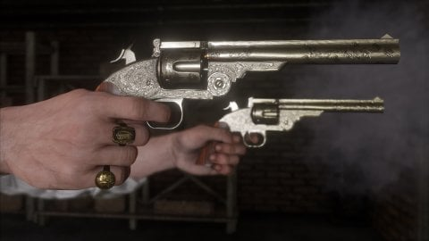 Red Dead Redemption 2: Weapon textures improved by 400% from one mod