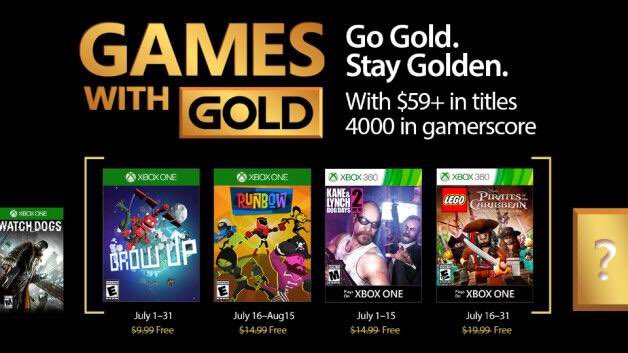 Grow Up, Runbow, Kane & Lynch e LEGO sono i Games with Gold di luglio 2017