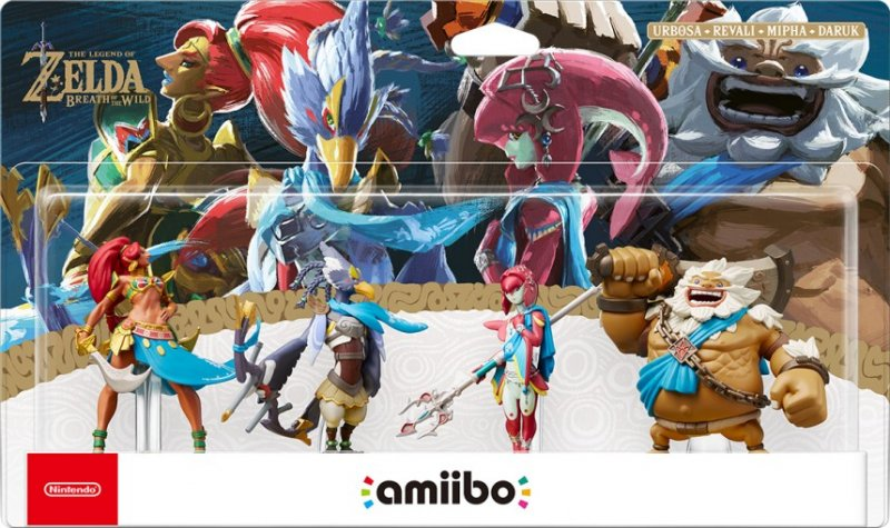 Il quadruplice pacchetto Champions amiibo per The Legend of Zelda: Breath of the Wild arriva in Europa