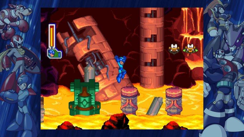 La raccolta Mega Man Legacy Collection 1 e 2 giocata su Nintendo Switch