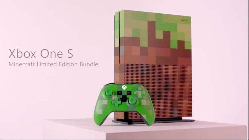 C'è anche un'edizione speciale dedicata a Minecraft di Xbox One S
